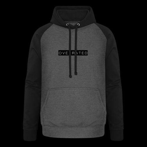 Overrated Black white - Unisex baseball hoodie