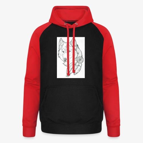 wolf - Unisex baseball hoodie