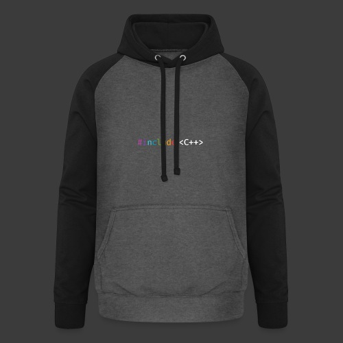 rainbow for dark background - Unisex Baseball Hoodie