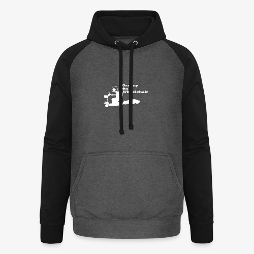 g on wheelchair - Unisex Baseball Hoodie