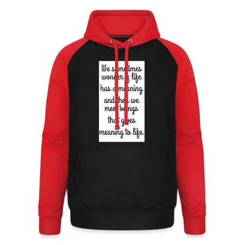 Phrase d'amour en anglais - Sweat-shirt baseball unisexe