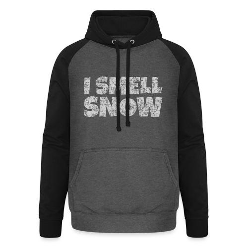 I Smell Snow (Grau) Schnee, Winter, Wintersport - Unisex Baseball Hoodie