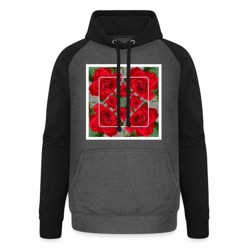 Rose Design - Unisex Baseball Hoodie