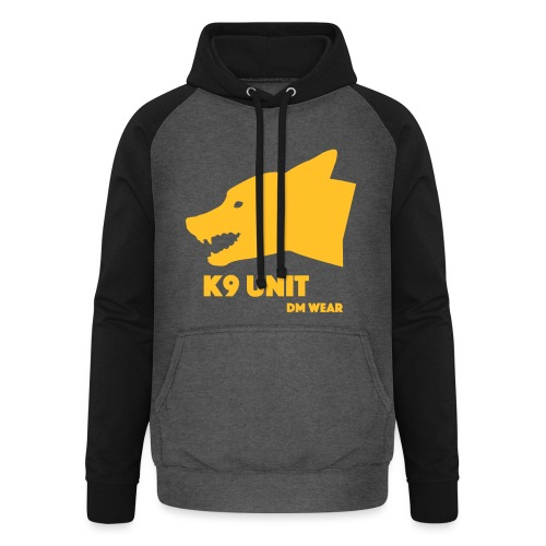 dm wear K9 unit yellow - Unisex Baseball Hoodie