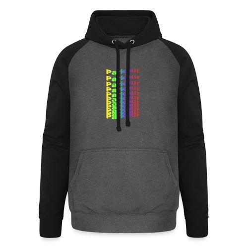 Parkour rainbow - Unisex baseball hoodie