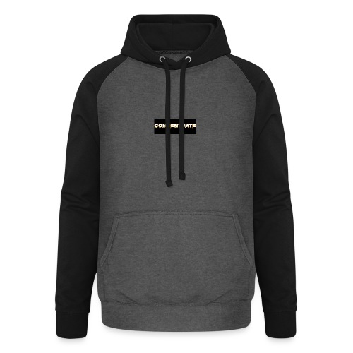 Concentrate on black - Unisex Baseball Hoodie