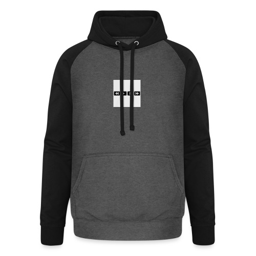 black-rewind-play-pause-forward-t-shirts_design - Unisex baseball hoodie