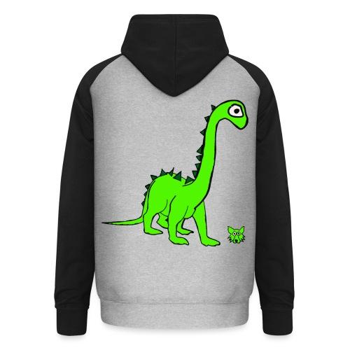 dinosauro - Felpa da baseball con cappuccio unisex