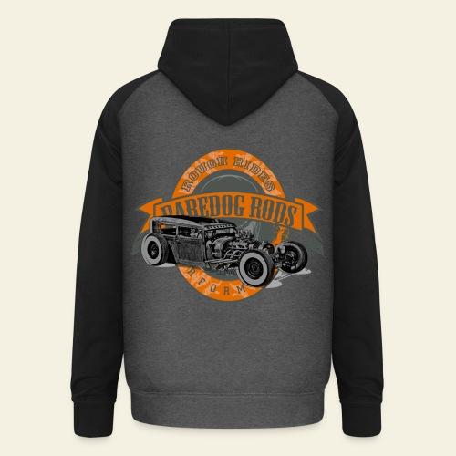 Raredog Rods Logo - Unisex baseball hoodie