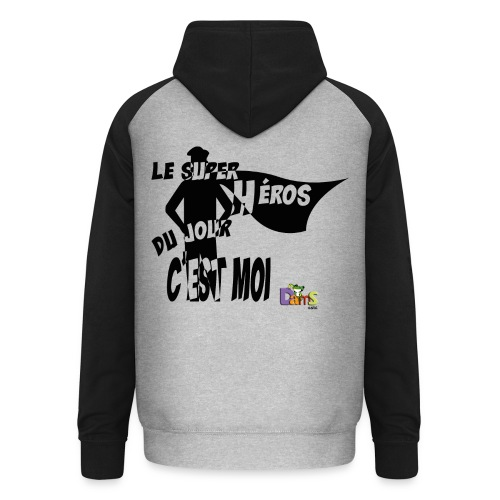Anniversaire Super Heros (B) - Sweat-shirt baseball unisexe