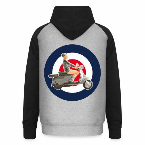 Scooter girl - Sweat-shirt baseball unisexe