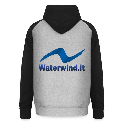 logo waterwindpuntoit no sfondo png - Unisex Baseball Hoodie