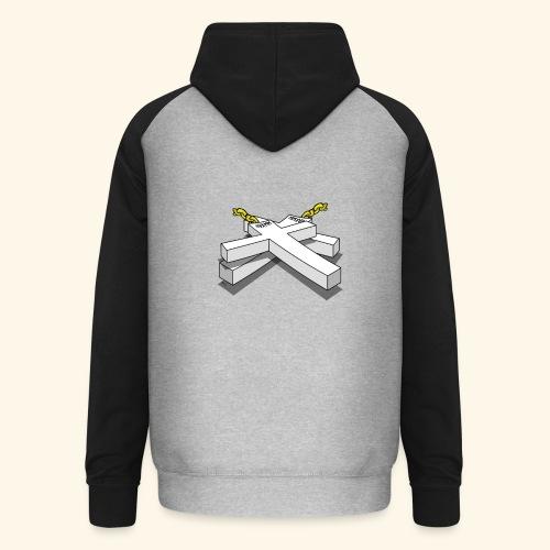 Gold Crosses - Felpa da baseball con cappuccio unisex