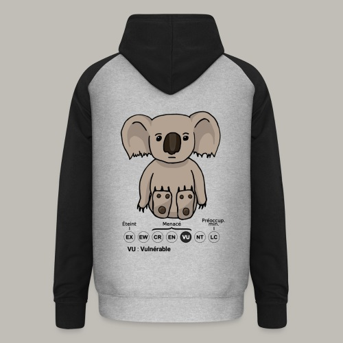 Koala & Co - Sweat-shirt baseball unisexe