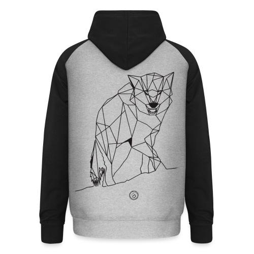 FENRIS - Geometrisk lineart - Unisex baseball hoodie