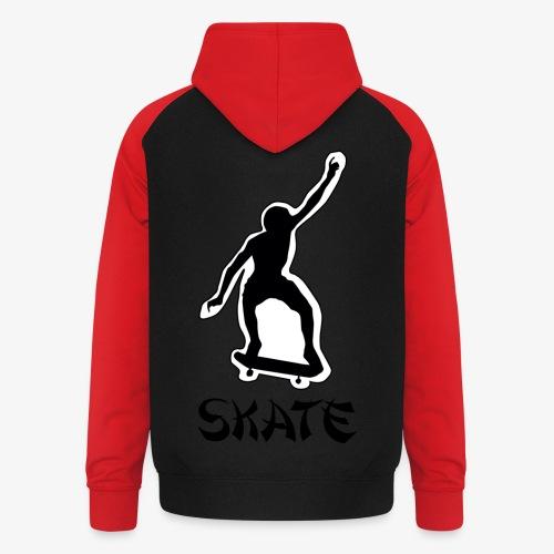skate - Unisex baseball hoodie