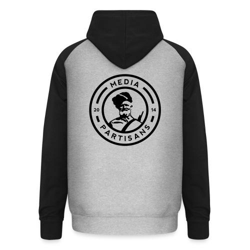 Unisex Hoodie: Black Logo - Unisex Baseball Hoodie