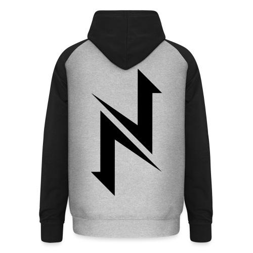 Nexotic Logo 2018 - Black - Unisex Baseball Hoodie