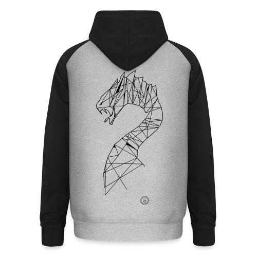 Jormundgard - Geometrisk lineart - Unisex baseball hoodie