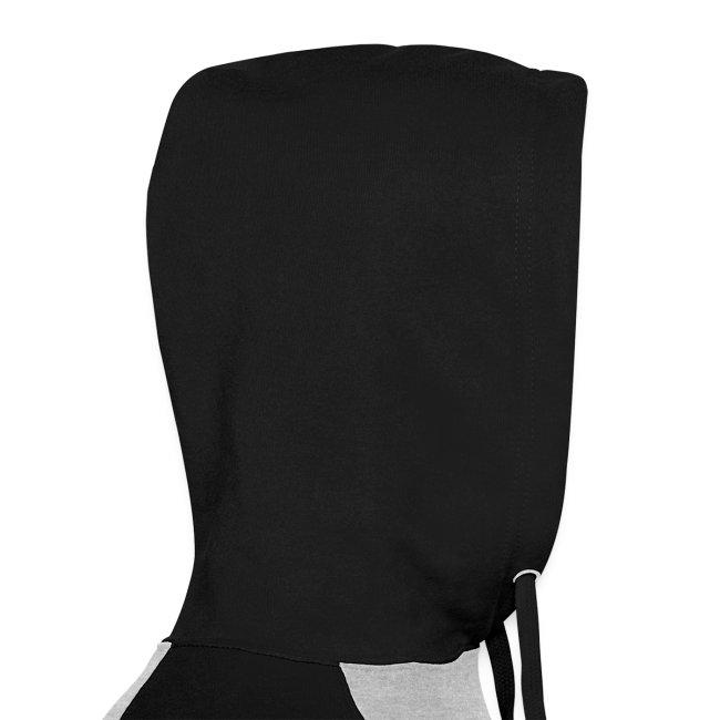 Vorschau: pixel black horse - Unisex Baseball Hoodie
