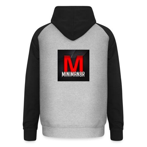 miniman8R Logo - Unisex Baseball Hoodie