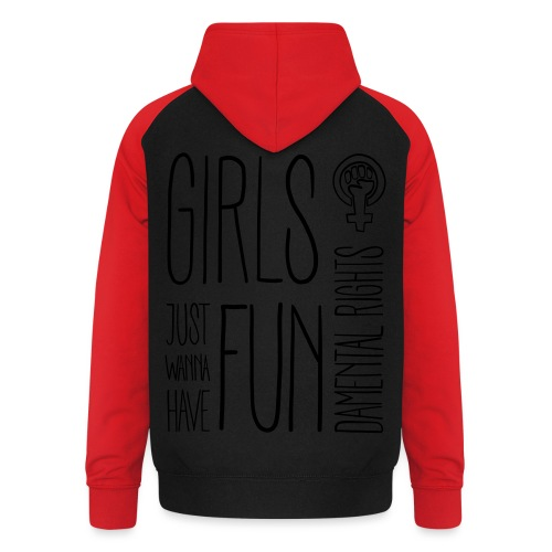 Girls just wanna have fundamental rights - Unisex Baseball Hoodie