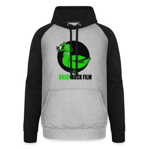 Greenduck Film Logo w. black letters - Unisex baseball hoodie