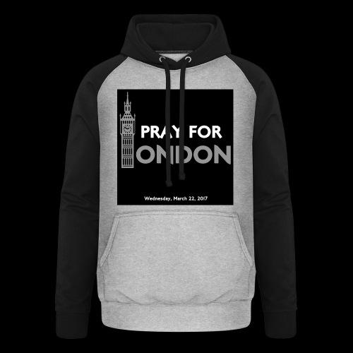 PRAY FOR LONDON - Sweat-shirt baseball unisexe