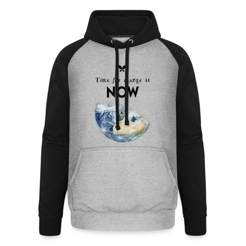 Time for change is now. (Earth Edition) - Unisex Baseball Hoodie
