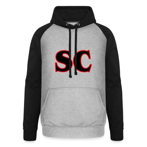 Classic StrangeCommunity logo - Unisex baseball hoodie