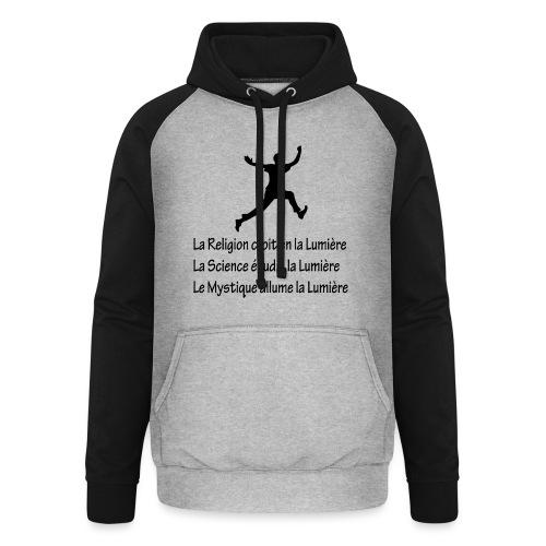 Lumière Religion Science Mystique - Sweat-shirt baseball unisexe