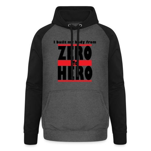 Zero To Hero - Unisex baseball-huppari