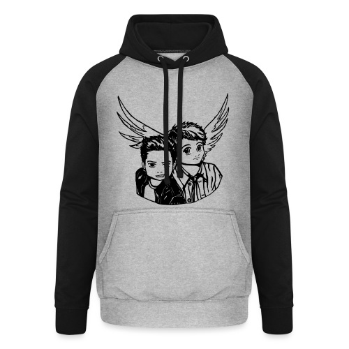Destiel (Silhuet) - Unisex baseball hoodie