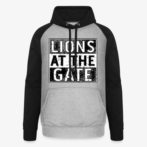 LIONS AT THE GATE BAND LOGO - Unisex baseball hoodie