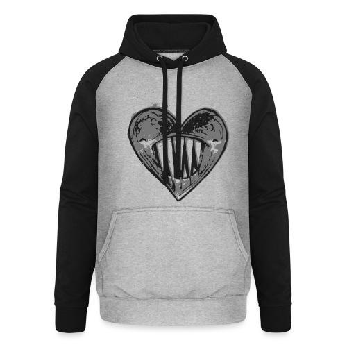 Corazón Negro - Sudadera con capucha de béisbol unisex
