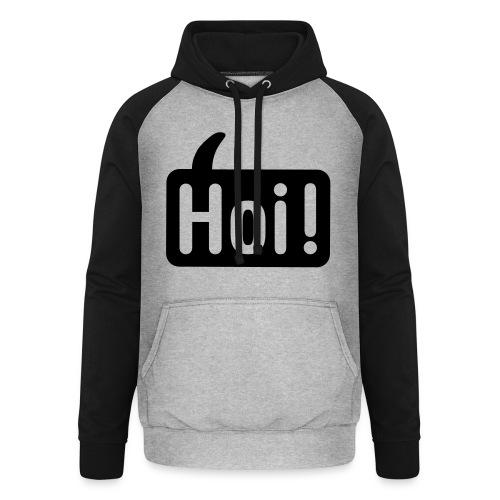 hoi front - Unisex baseball hoodie