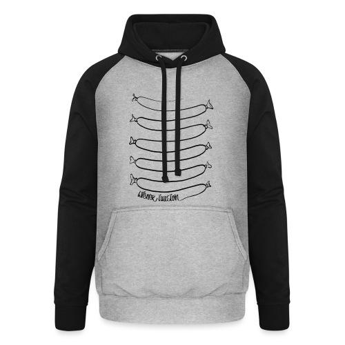 Wiener Illusion (schwarz auf weiß) - Unisex Baseball Hoodie