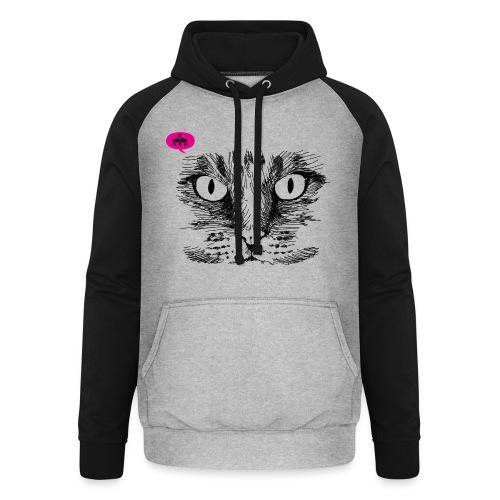 kattegezicht vdh - Unisex baseball hoodie