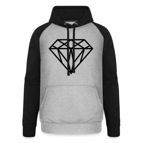 Diamond Graphic // Diamant Grafik - Unisex Baseball Hoodie