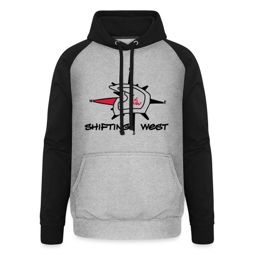 Shifting West Logo vector - Unisex baseball hoodie