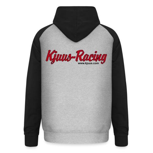 Kjuus Racing & Motorsykkelpodden - Unisex baseball-hettegenser
