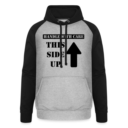 Handle with care / This side up - PrintShirt.at - Unisex Baseball Hoodie