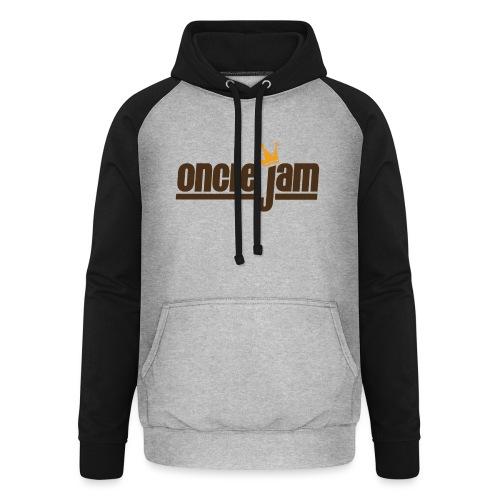Oncle Jam horizontal brun - Sweat-shirt baseball unisexe