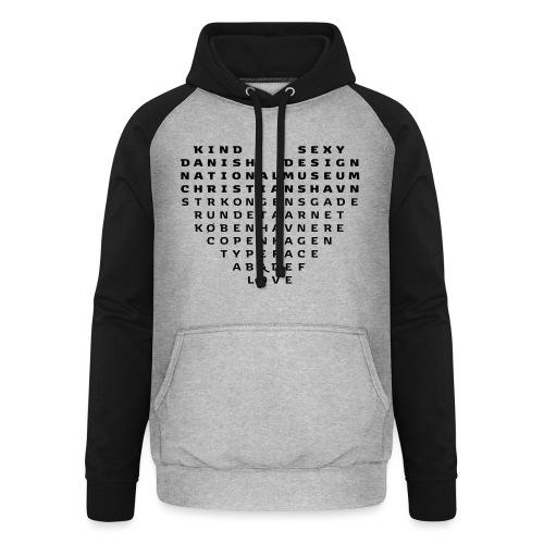 Copenhagen Heart - Unisex baseball hoodie
