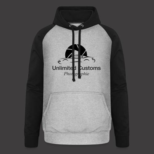 Logo schwarz4k - Unisex Baseball Hoodie