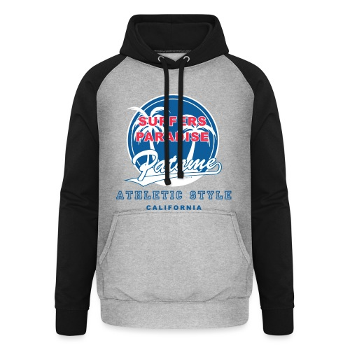 Surfers Paradise Athletic Blue - Unisex Baseball Hoodie