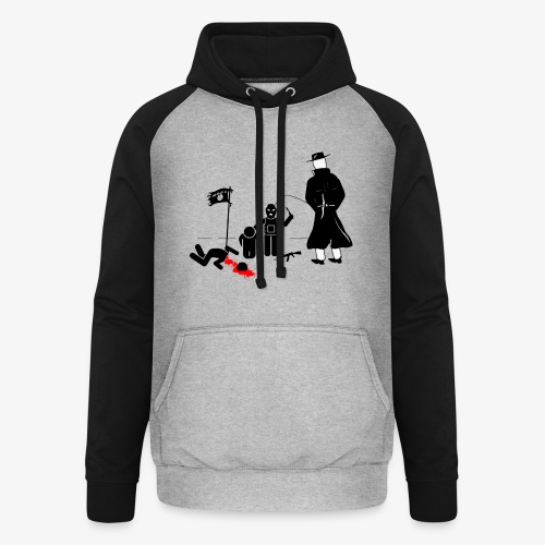 Pissing Man against terrorism - Unisex Baseball Hoodie