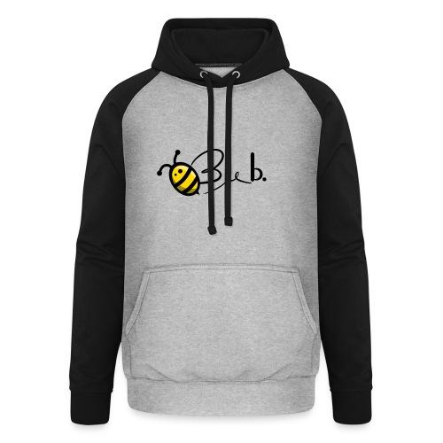 Bee b. Logo - Unisex Baseball Hoodie