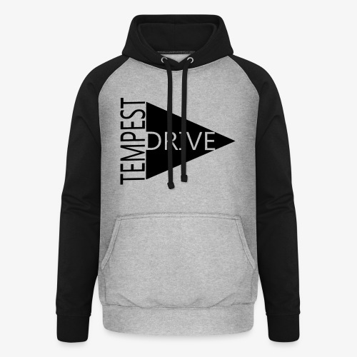 Komprimeret logo - Unisex baseball hoodie