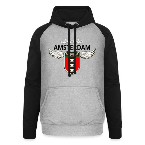 Amsterdam Netherlands - Unisex Baseball Hoodie